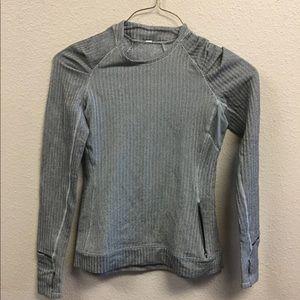 Lululemon think Fast Herringbone Pullover LS 6